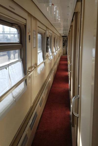 Поезд в Петербург.