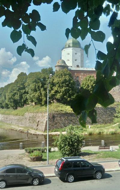 Вид наВыборгский замок.