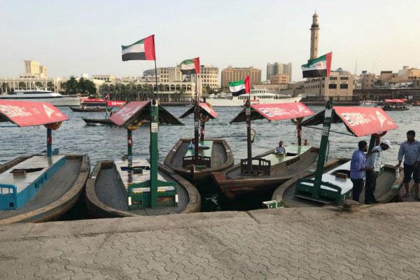 Лодки в Дубае.