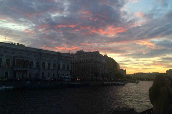 Закат в Петербурге.