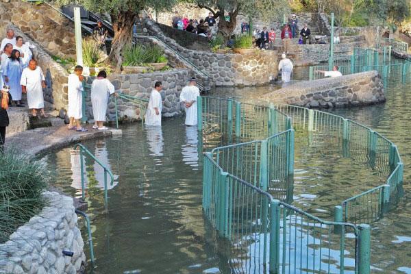 Святые воды реки Иордан.