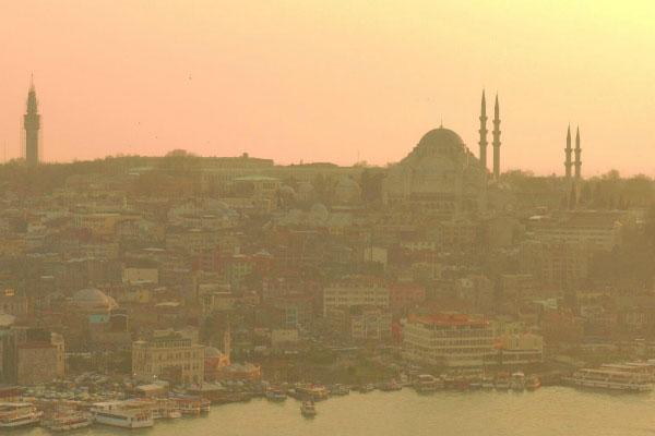 Закат над Стамбулом.
