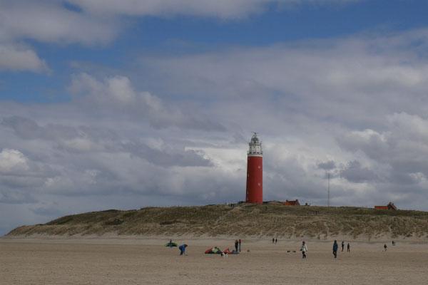 Пляж весной.