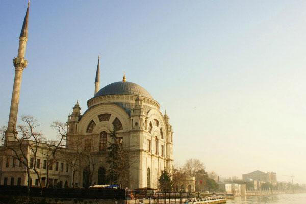 Рассвет в Стамбуле.