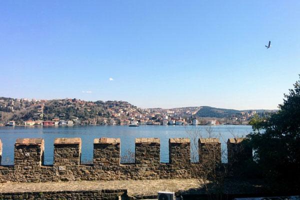 Вид на Босфор.