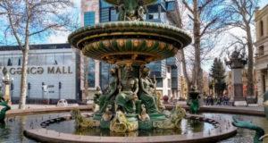 Красивый фонтан.