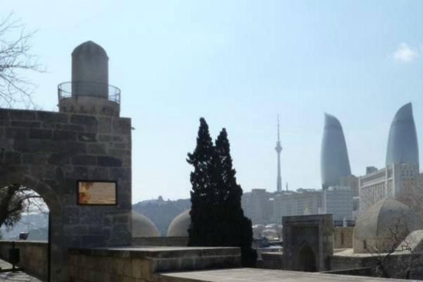 Вид на Баку.