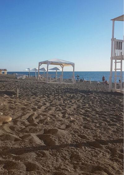Пляж в Сочи.
