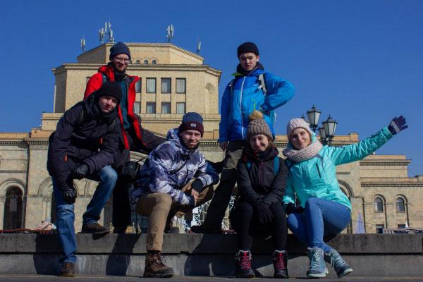 Ереван в январе.