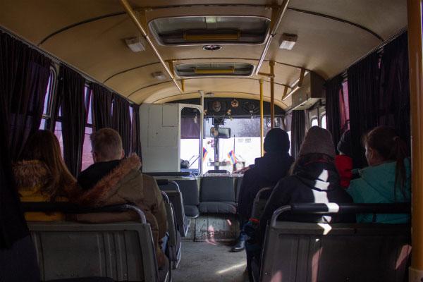 Местный автобус.