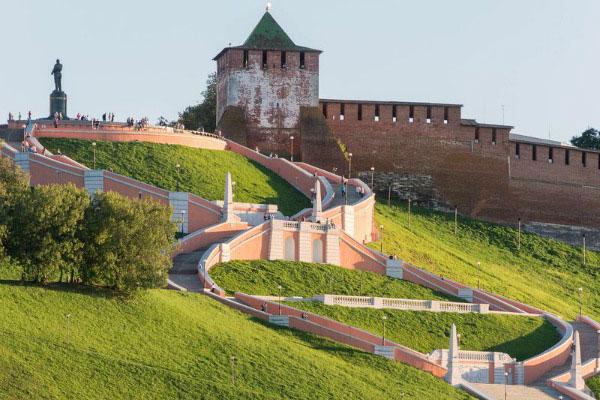 Главная лестница Нижнего Новгорода.