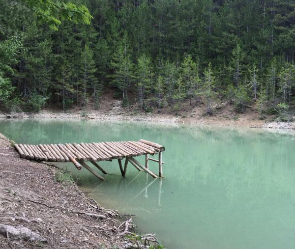 Озеро в Крыму.