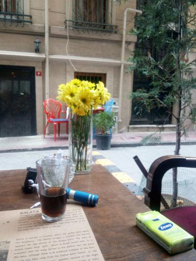 В кафе.