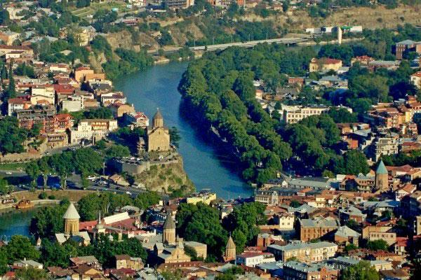 Вид на Тбилиси.