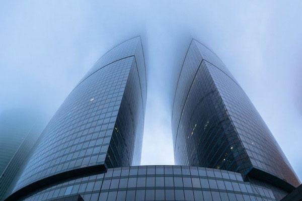 Туман в Москве.