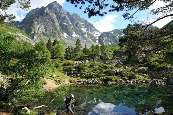 Горное озеро.