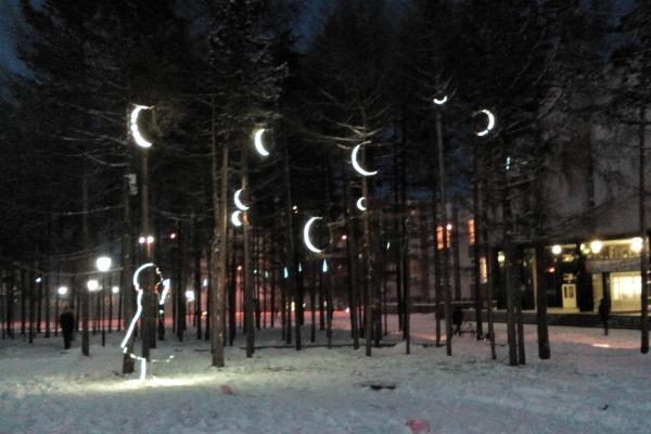 Зимняя подсветка.