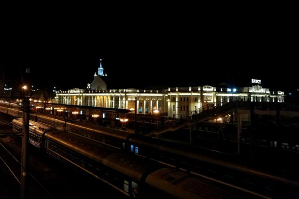 Ночной вокзал.