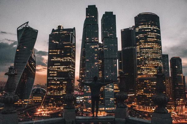 Московские небоскрёбы.