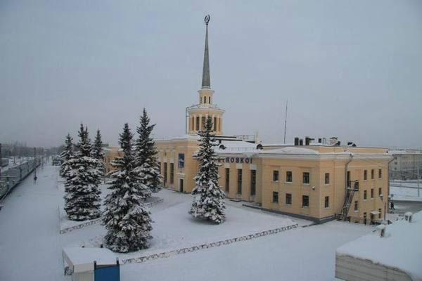 Вокзал Петрозаводска.
