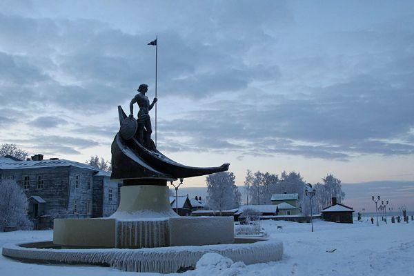 Зима в Петрозаводске.