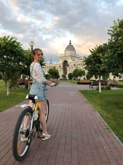 Велопрогулка в парке.