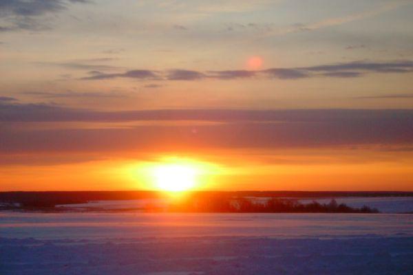 Январский закат.