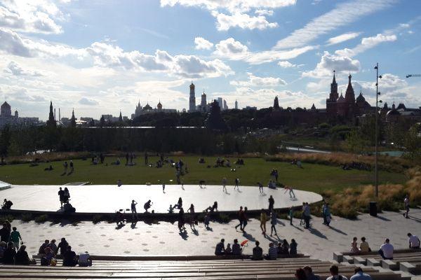 Вид на парк.