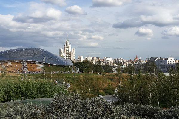 Вид на Москву.