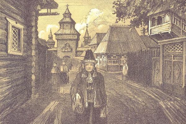 Старинный Иркутск.