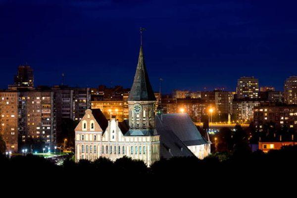 Калининград ночью.